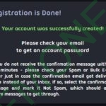PegasusVPN успешная регистрация